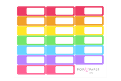AP02 - Rainbow Colors Appointment Stickers