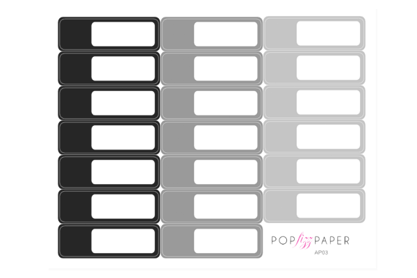 AP03 - Neutral Colors Appointment Stickers