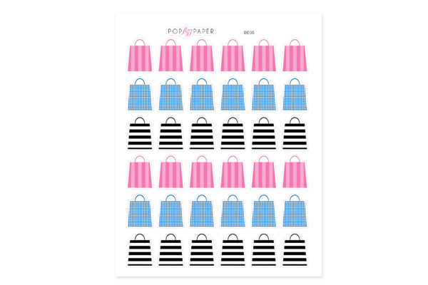 BE05 - Beauty Shopping Bags Stickers