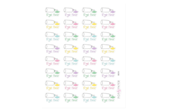 BE06 - Pastel Hair Dye Stickers