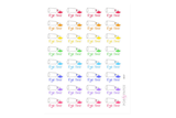 BE07 - Rainbow Hair Dye Stickers