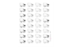 BE08 - Neutral Hair Dye Stickers