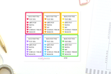BP09 - Rainbow Blog Planner Stickers