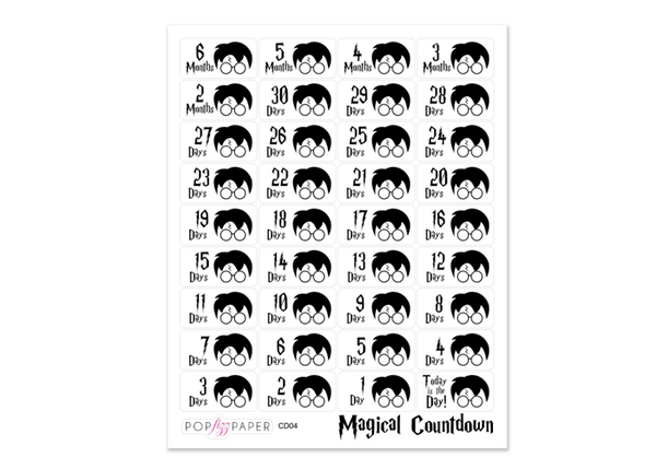 CD04 - Magical Countdown Stickers