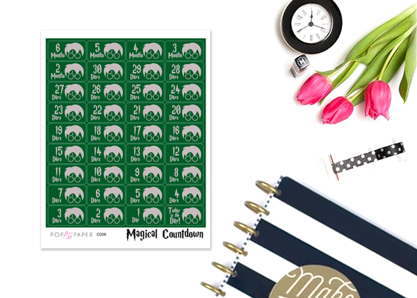 CD06 - Magical Countdown Stickers - Slytherin