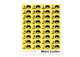 CD07 - Magical Countdown Stickers - Hufflepuff