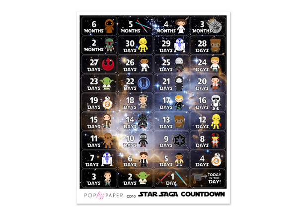 CD10 - Star Saga Countdown Stickers