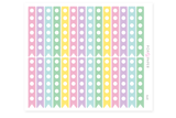 CL01 - Large Pastel Checklist Stickers