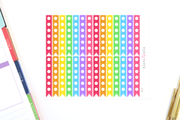 CL02 - Large Rainbow Checklist Stickers