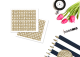 CL05 - Gold Glitter Checklist Stickers