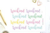 DA17 - Pastel Weekend Banners