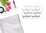 DA22 - Glitter Neutral Weekend Banners