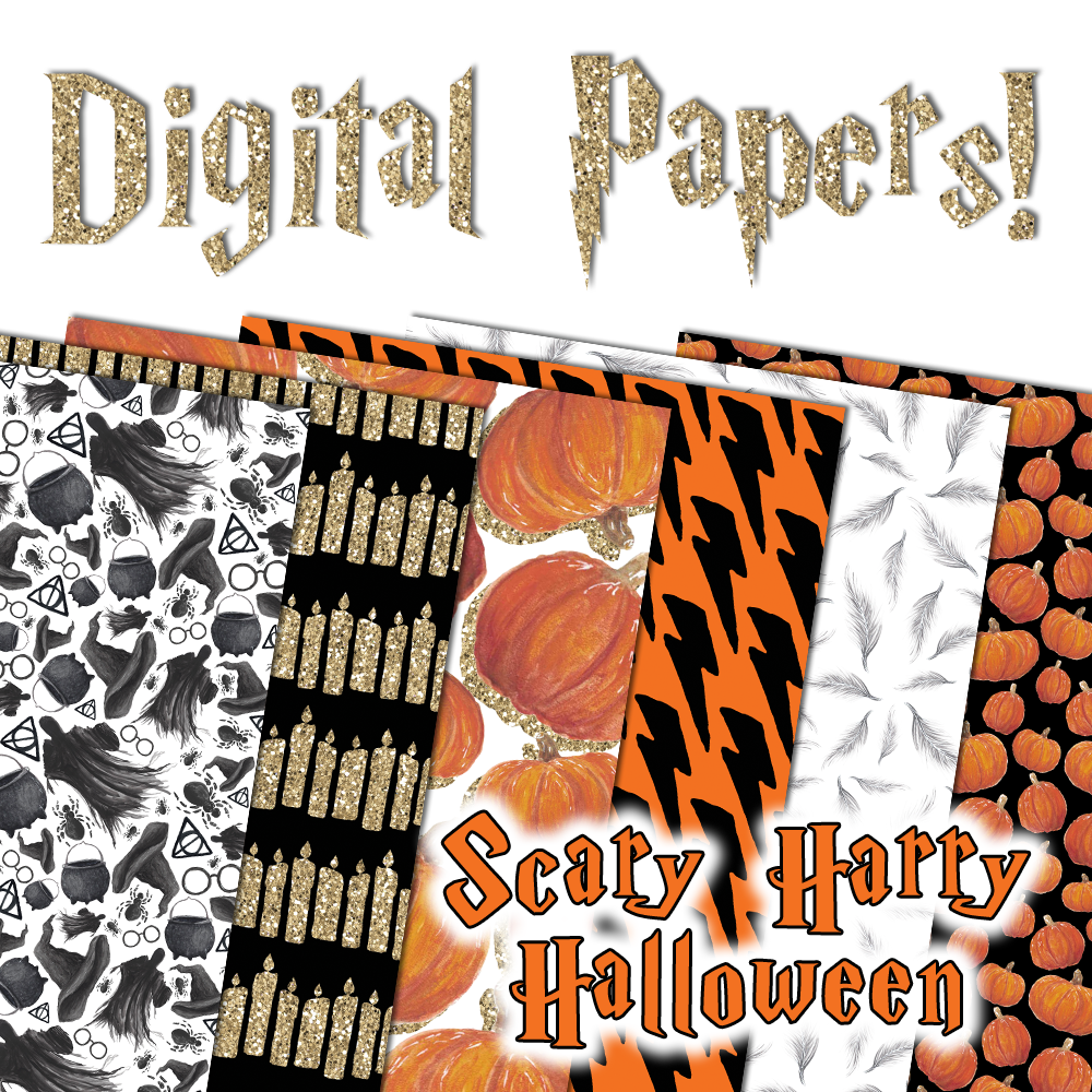 Digital Papers - Scary Harry Halloween