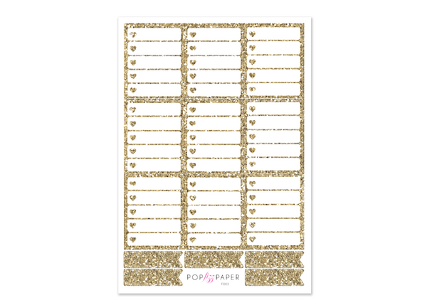 FB03 - Gold Glitter Checkboxes - EC Vertical