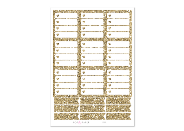 FB06 - Gold Glitter Checkboxes - EC Horizontal