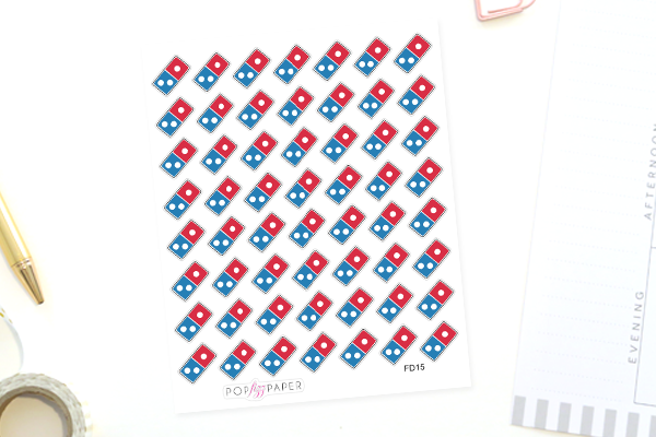 FD15 - Pizza Delivery Stickers