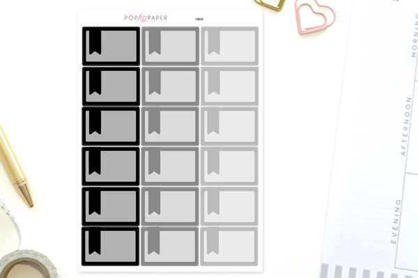 HB06 - Neutral Colors Half Box with FLAGS Stickers