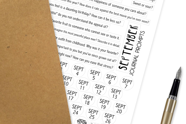 JP09 - SEPTEMBER Journal Prompt Stickers