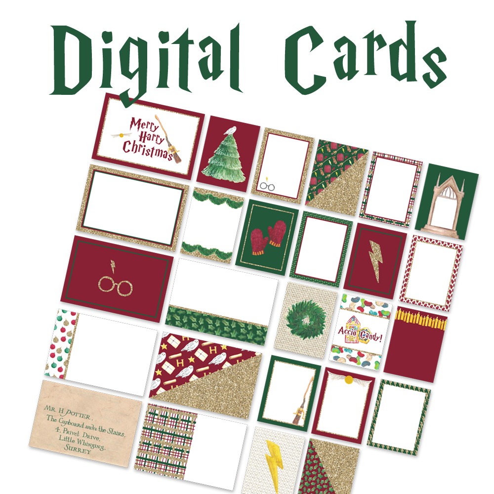 Digital Journal Cards - Merry Harry Christmas