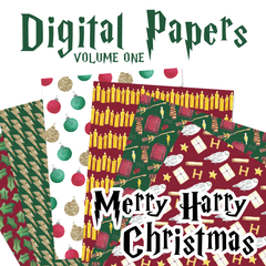 Digital Papers Volume One - Merry Harry Christmas