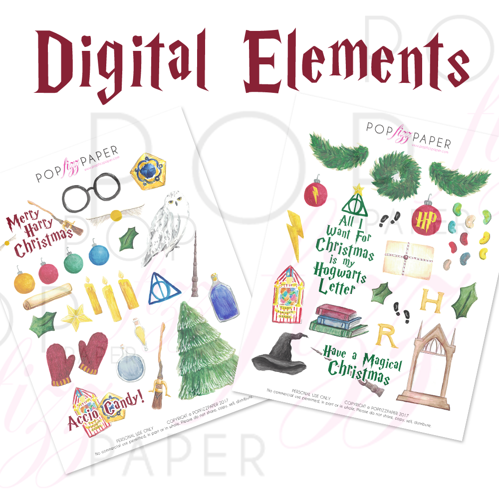 Digital Elements Sheets - Merry Harry Christmas