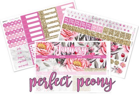 Monthly Set - January - Perfect Peony