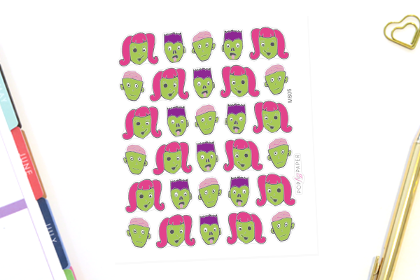 MS05 - Cute Zombie Stickers