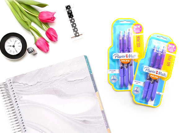 Pentel Inkjoy Gel Pens - Purple 3pc Set