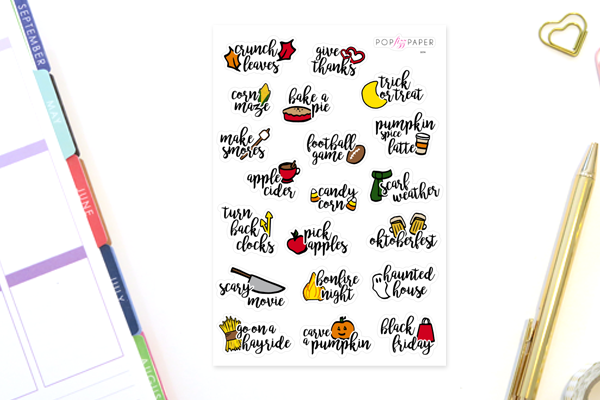 SE06 - Fall Bucket List Stickers - Regular Size