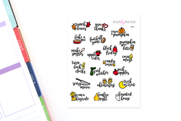 SE07 - Fall Bucket List Stickers - Small Size