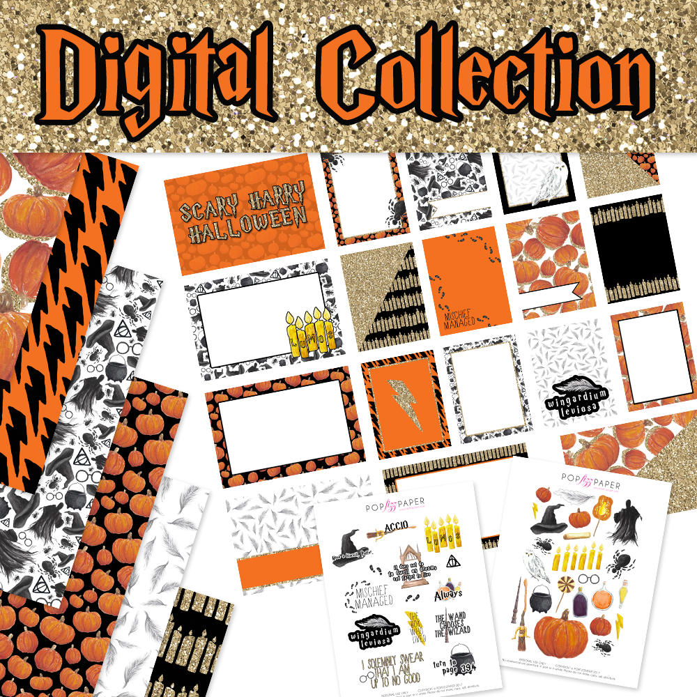 digital collection kit - scary harry halloween | popfizzpaper