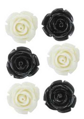 Resin Flowers - Black & White