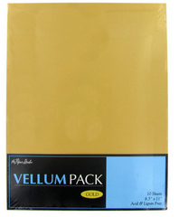 Gold Vellum Paper Pack
