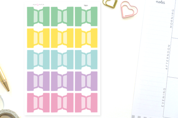TB01 - Pastel Tab Stickers