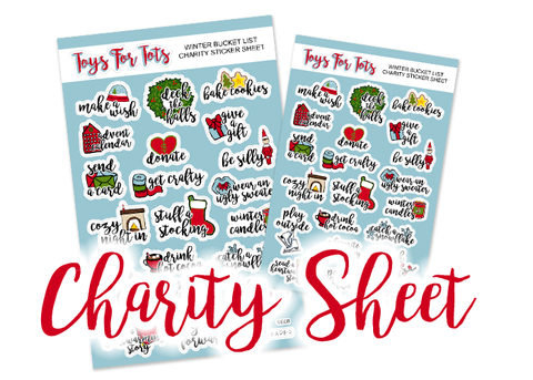 SE09 - Winter Bucket List Stickers *2017 CHARITY SHEET* - Small Size