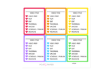 VP09 - Rainbow Video Youtube Planner Stickers