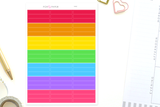 WA02 - Rainbow Blank Headers Stickers