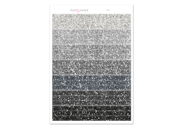 WA06 - Glitter Neutral Header Stickers