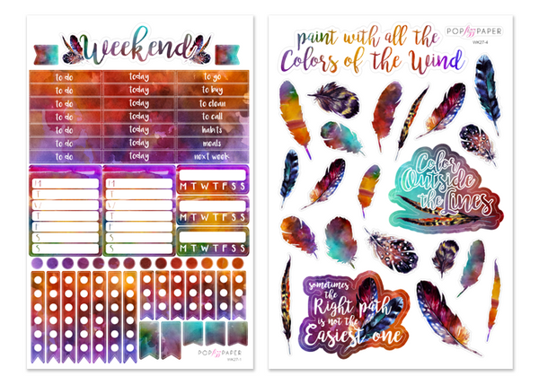 WK27 - Colors of the Wind - SINGLE SHEETS