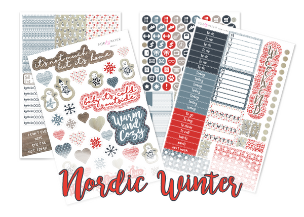 WK34 - Nordic Winter - SINGLE SHEETS