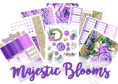 WK38 - Majestic Blooms Weekly Set - SINGLE SHEETS