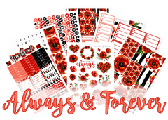 WK40 - Always & Forever Weekly Set - SINGLE SHEETS
