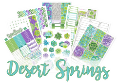 WK41 - Desert Springs Weekly Set - SINGLE SHEETS