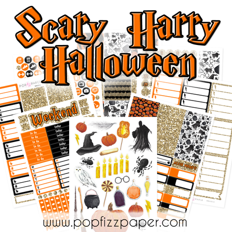 WK43 - SCARY HARRY HALLOWEEN - SINGLE SHEETS