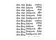 WO01 - Cleaning Words Stickers