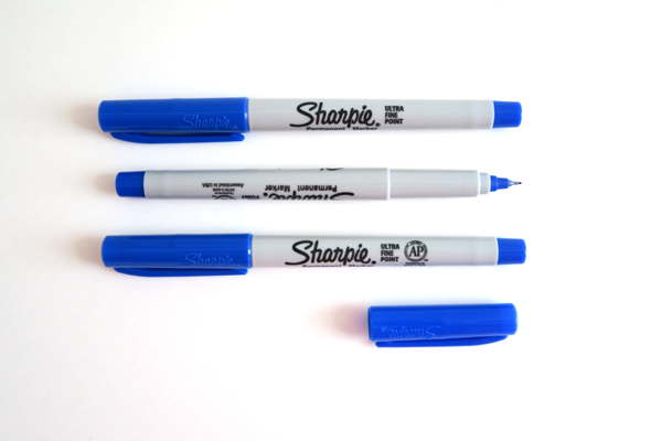Blue Ultra Fine Sharpie