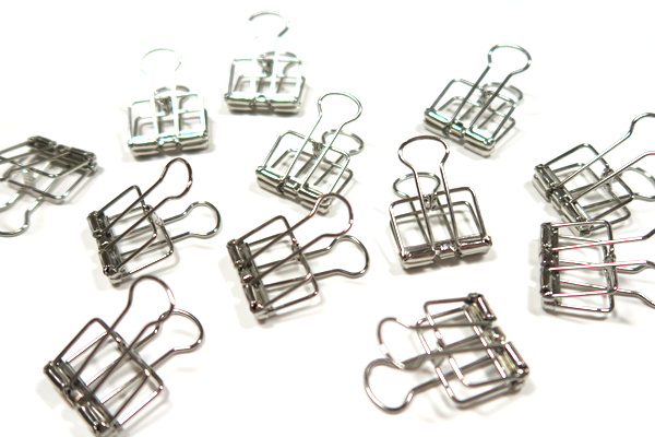 Silver Skeleton Binder Clips - Box of 12