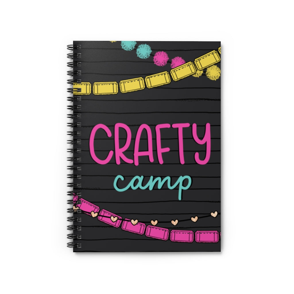 CRAFTY CAMP NOTEBOOK // Letterboard