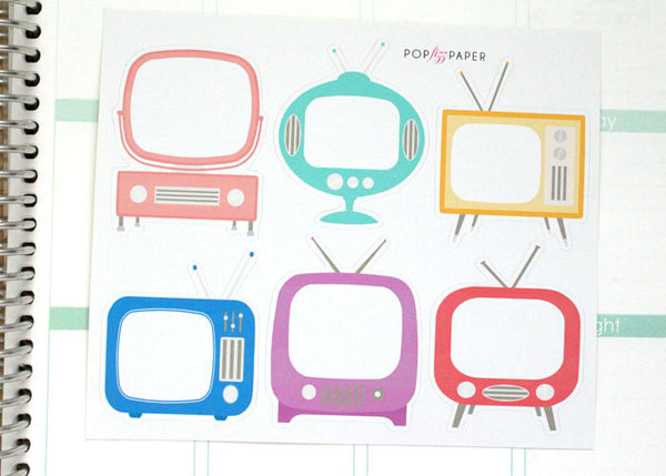 EN03 - Large Retro TV Set Stickers