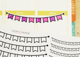 DY02 - You-Color-It Bunting Stickers